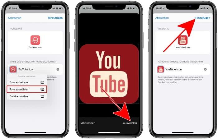 Foto für App Icon auswählen und hinzufügen