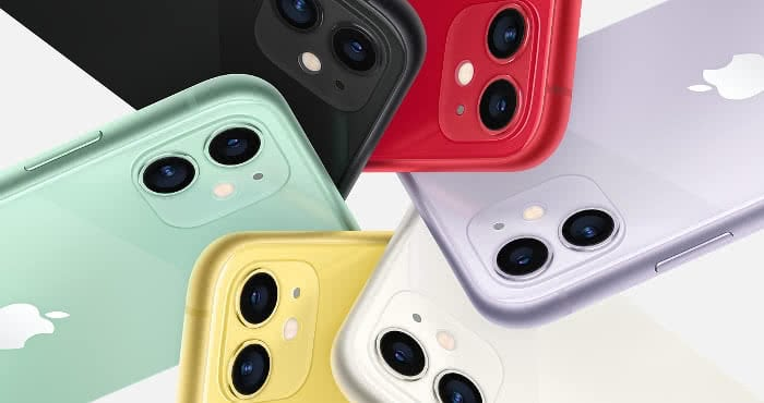 Dual-Kamera am iPhone 11.