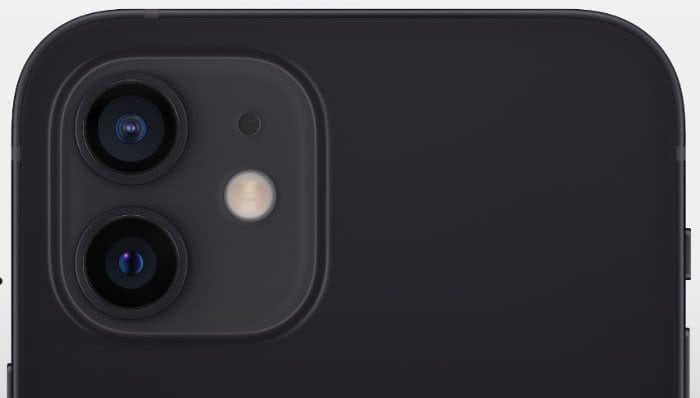 Dual-Kamera des iPhone 12.