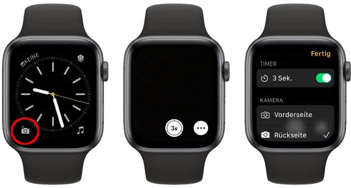 Kamera-Komplikation auf der Apple Watch nutzen