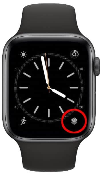 Apple Watch Zifferblatt Komplikation mit Kurzbefehl