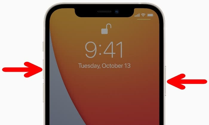 iPhone 12 Screenshot