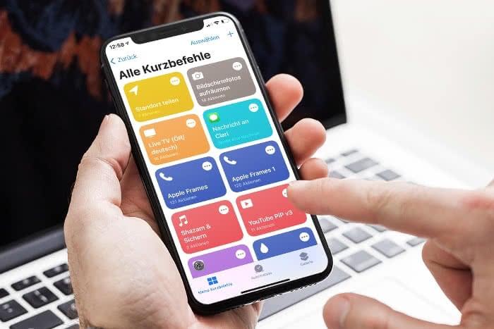 Kurzbefehle-App auf dem iPhone