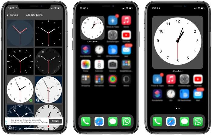 Clock Face App auf dem iPhone