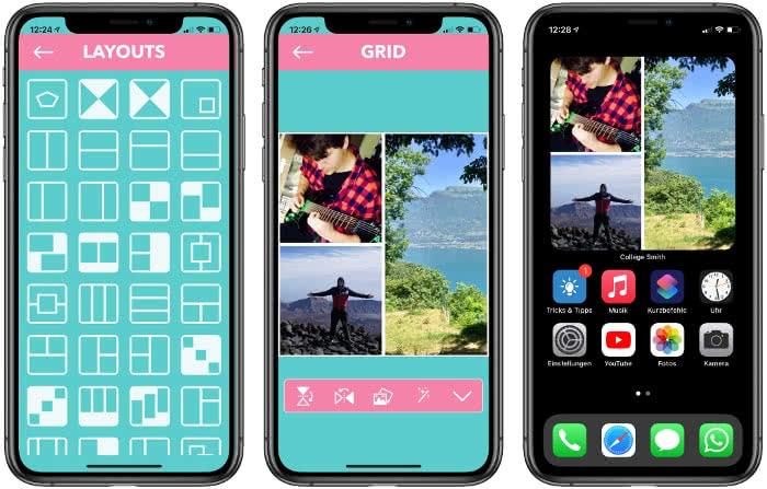 Collage Smith-App auf dem iPhone