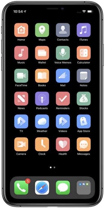 iPhone Theme Beispiel