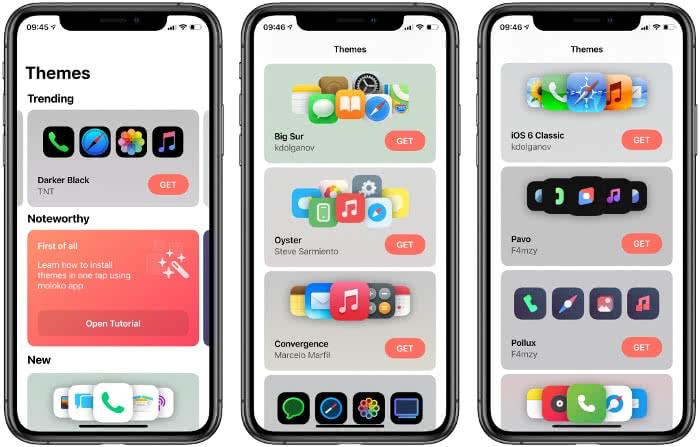 Themes in der moloko-App