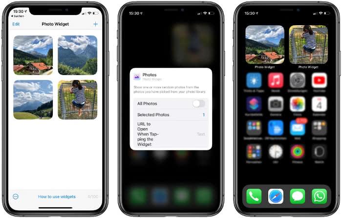 Photo Widget-App auf dem iPhone