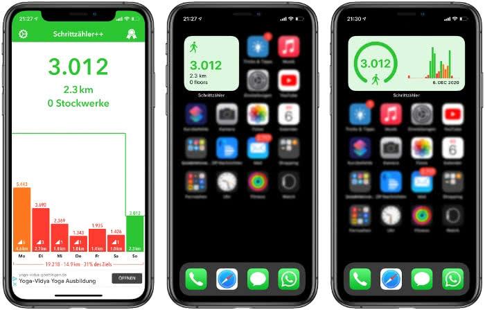 Schrittzähler-App auf dem iPhone