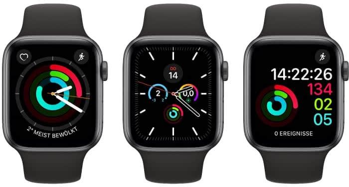 Apple Watch Ziffernblätter mit Aktivität-Komplikation