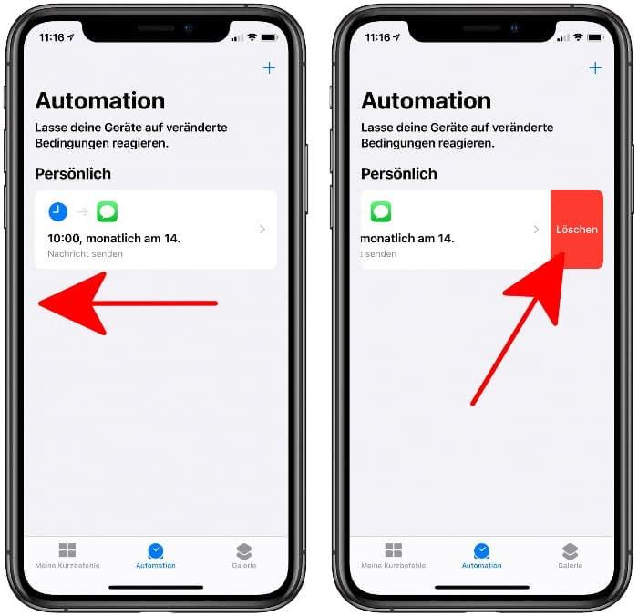 Automation löschen