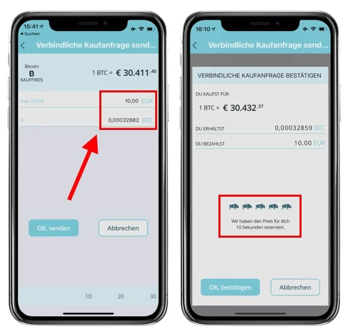Bitcoin kaufen am iPhone