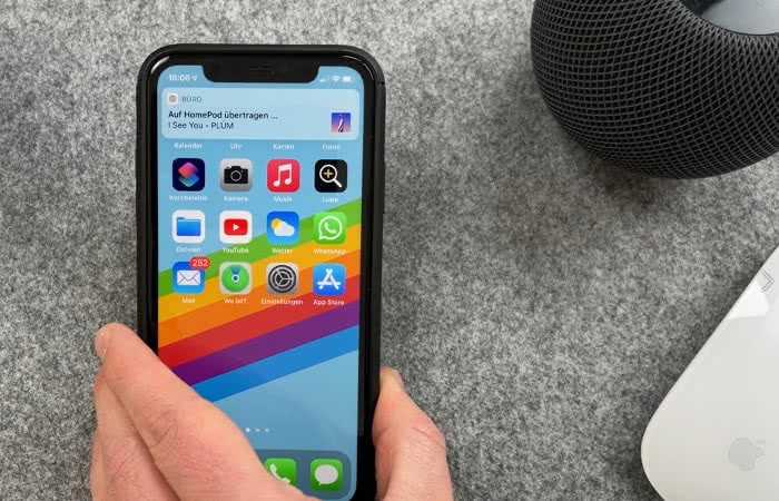 Handoff beim HomePod mini in iOS 14.4