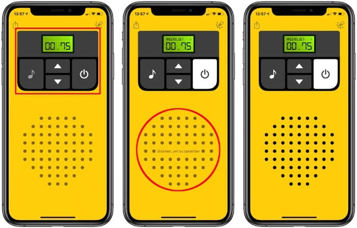 Walkie-Talkie App auf dem iPhone