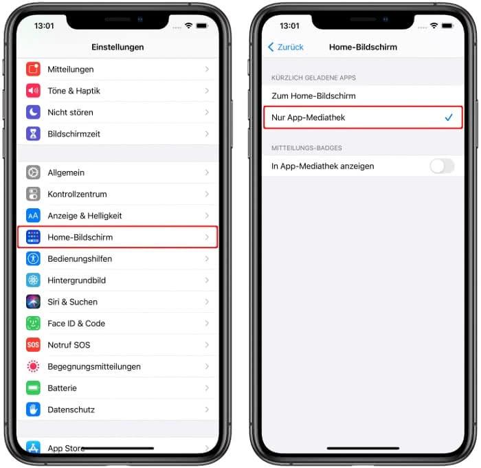Neu geladene Apps nur in der App-Mediathek anzeigen