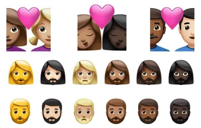 Neue Hautfarbe- und Geschlechter-Optionen für Emojis in iOS 14.5