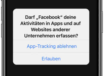 Facebook-App iOS Tracking-Abfrage