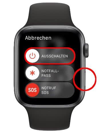 Apple Watch neu starten