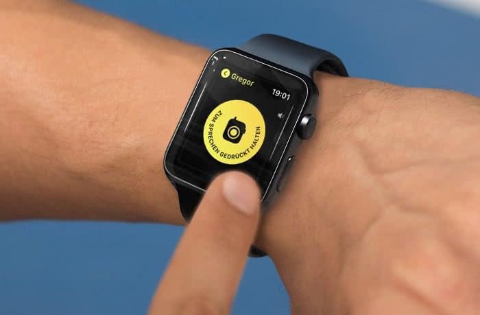 Apple Watch Walkie Talkie Beispielbild