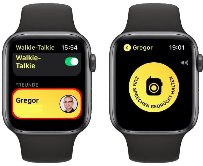 Konversation starten auf der Apple Watch