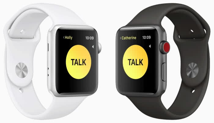 Walkie Talkie App im Sprechmodus auf der Apple Watch
