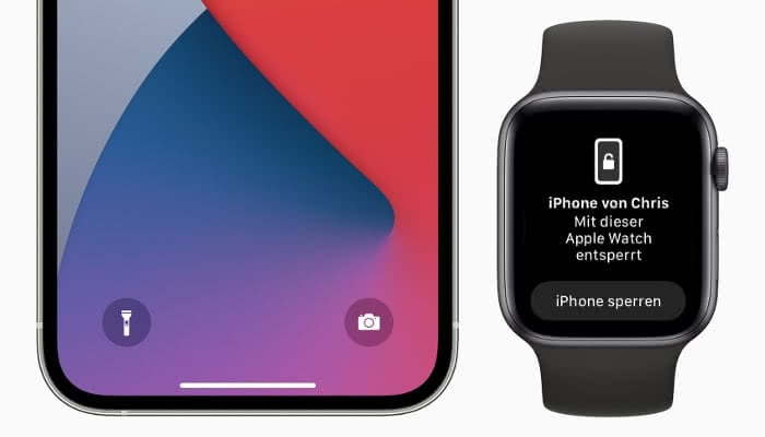 iPhone mit Apple Watch entsperren Beispielbild