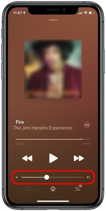 AirPods Lautstärke regeln in Musik-App