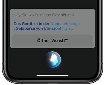 AirTag orten mit Siri