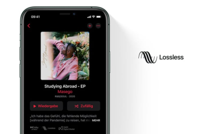 Apple Music Lossless Beispielbild