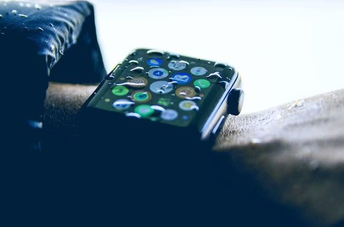Wasser auf der Apple Watch