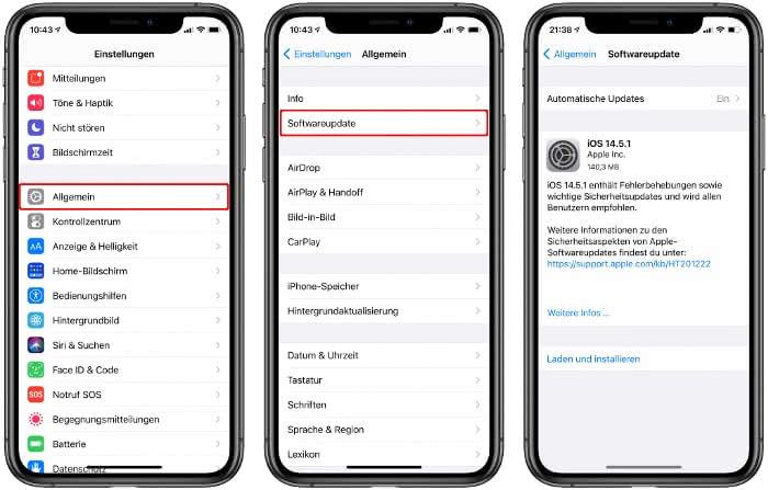 iOS-Update installieren
