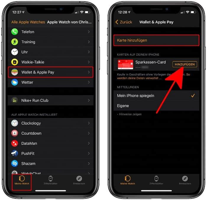 Watch-App auf dem iPhone