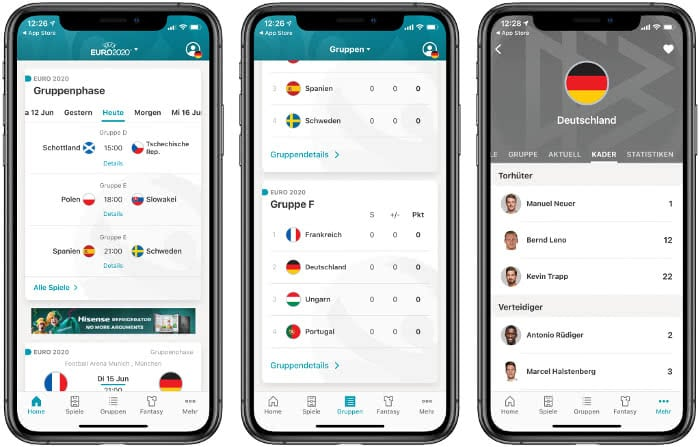 Die offizielle Euro 2020 App
