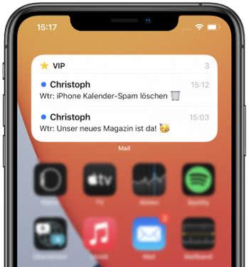 iOS 15 Mail-Widget