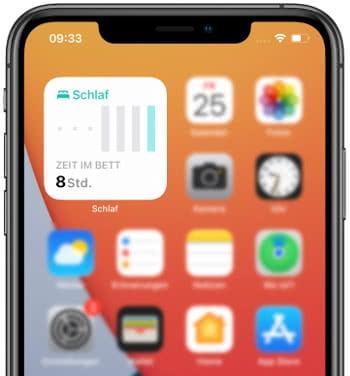 iOS 15 Schlaf Widget