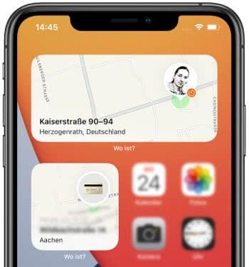 iOS 15 Wo ist? Widget
