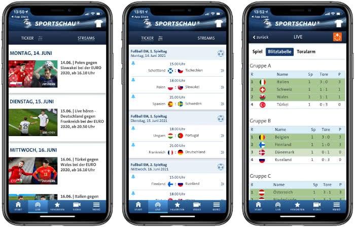 Sportschau-App Beispiel