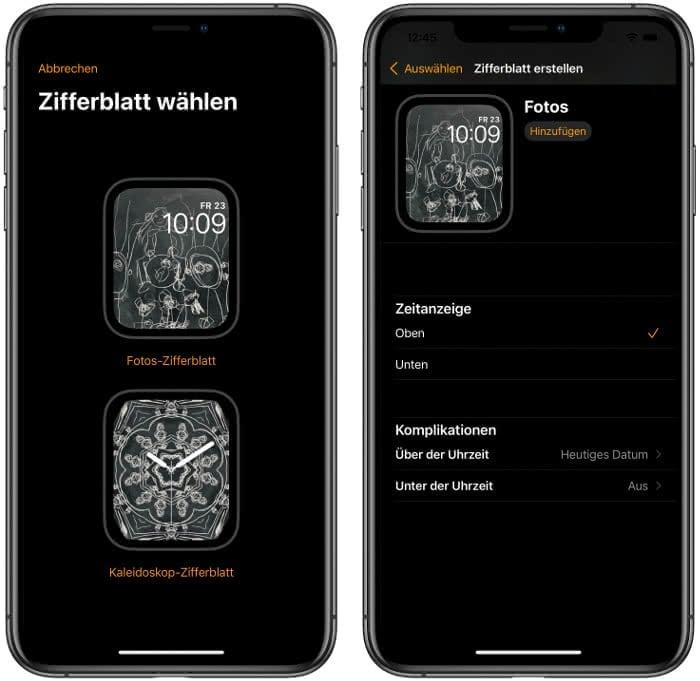 Apple Watch Zifferblatt wählen