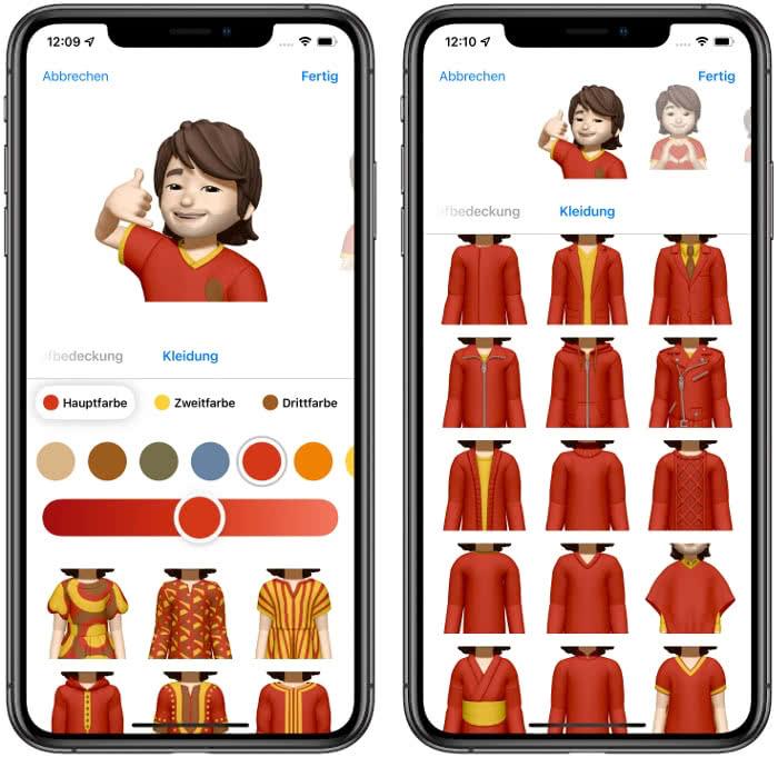 Memoji Kleidungs-Optionen in iOS 15