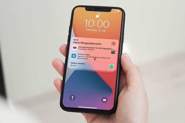 iOS 15 Mitteilungenübersicht Beispielbild