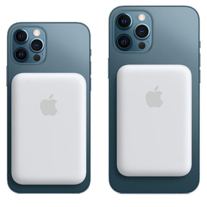 Externe MagSafe-Batterie am iPhone 12