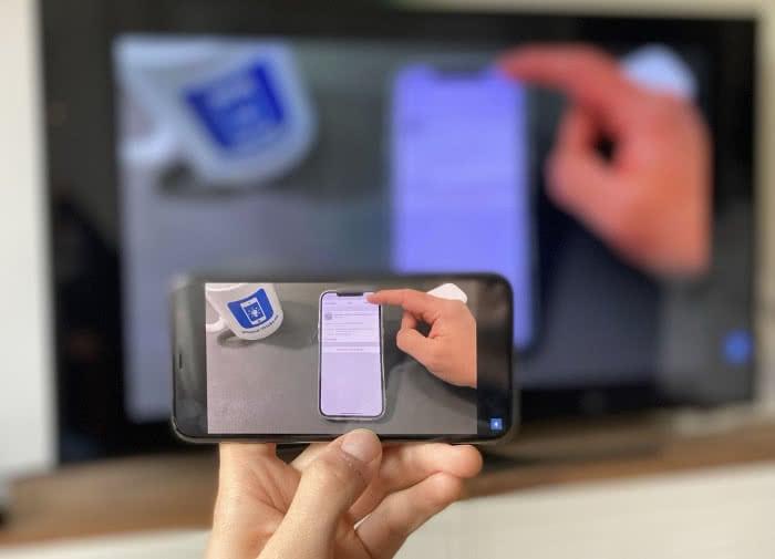 Replica-App auf dem iPhone im Querformat