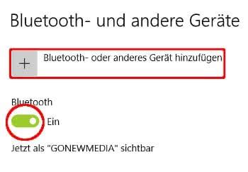 Bluetooth am Windows-Laptop aktivieren und Geräte hinzufügen