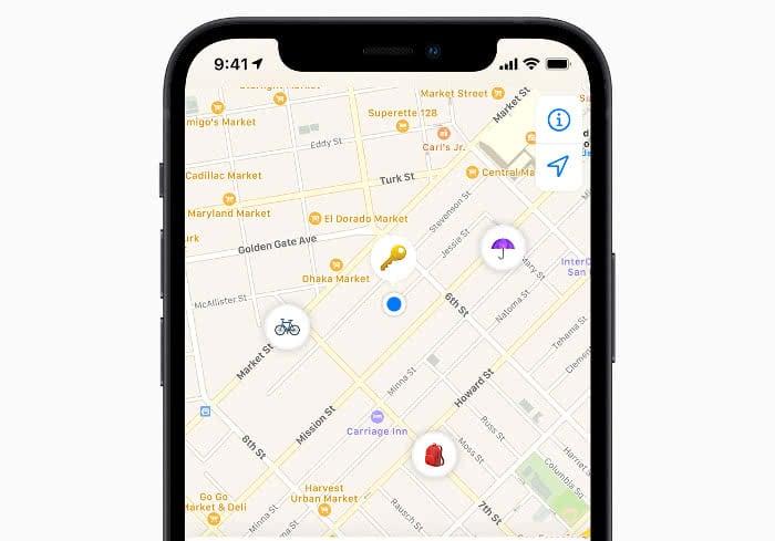 Kartenansicht in der Wo ist?-App