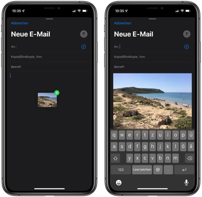 Drag and Drop auf dem iPhone nutzen