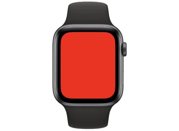 Apple Watch Taschenlampe mit rotem Licht