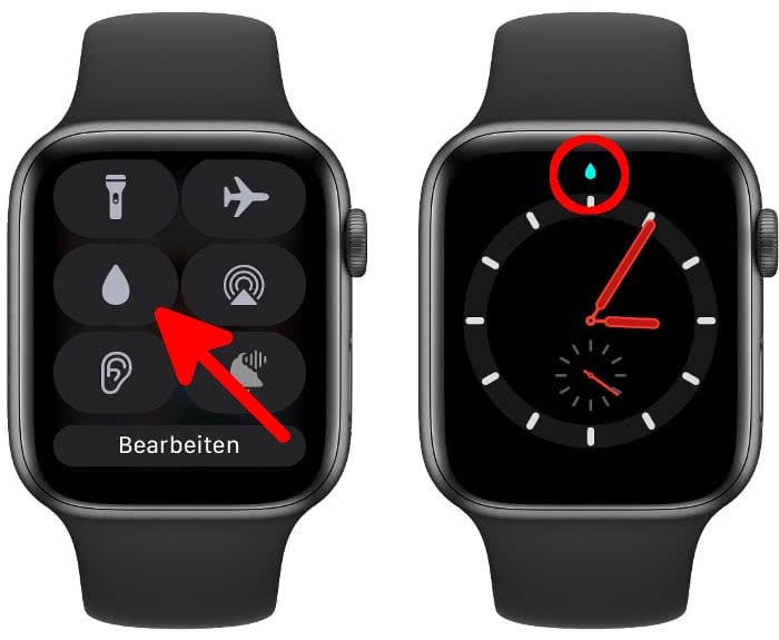 Apple Watch Wassersperre aktivieren