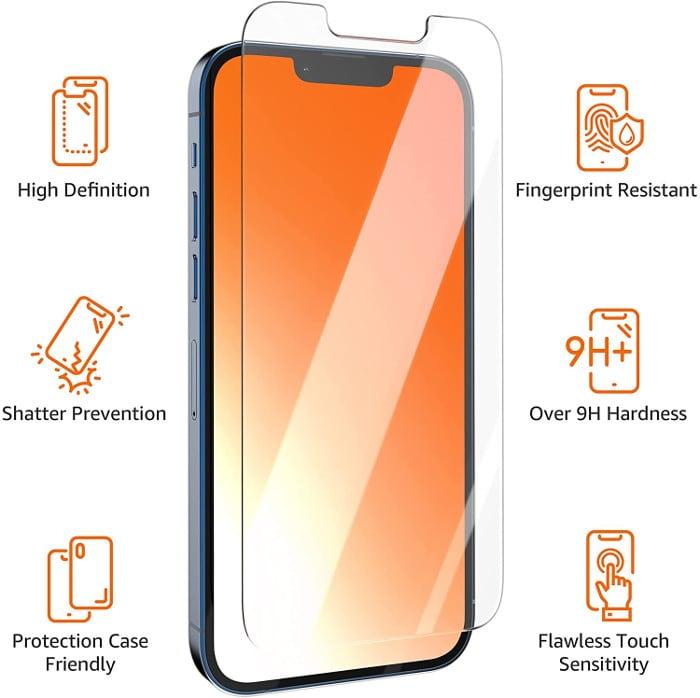 iPhone 13 Displayschutz von Amazon Basics