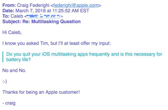 Multitasking Question an Craig Federighi